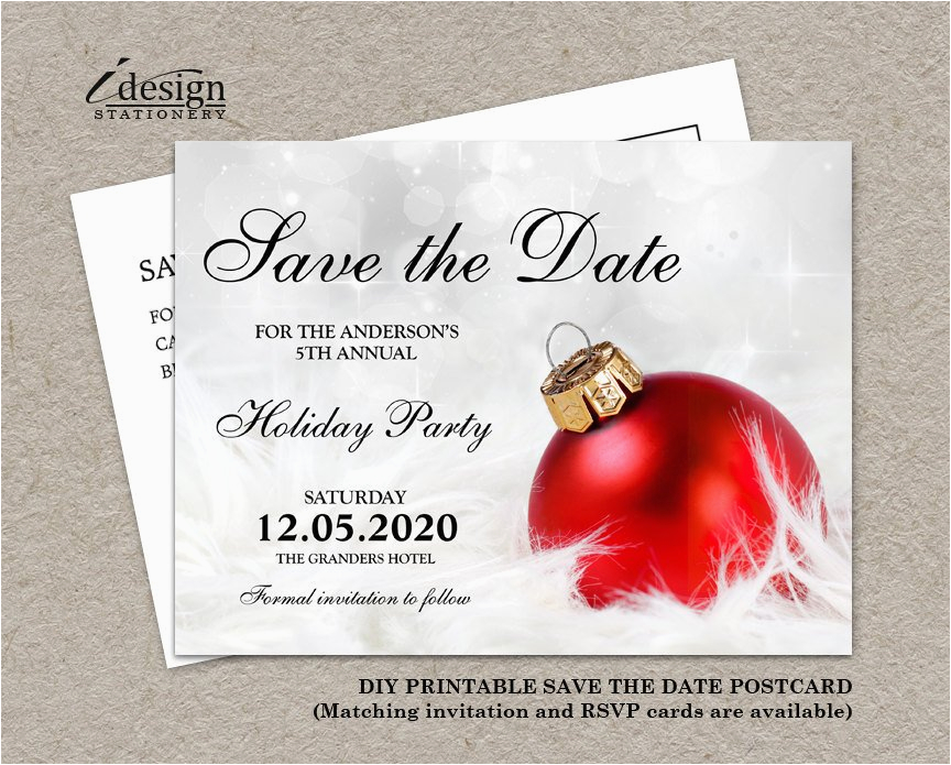 christmas party invitation save the date