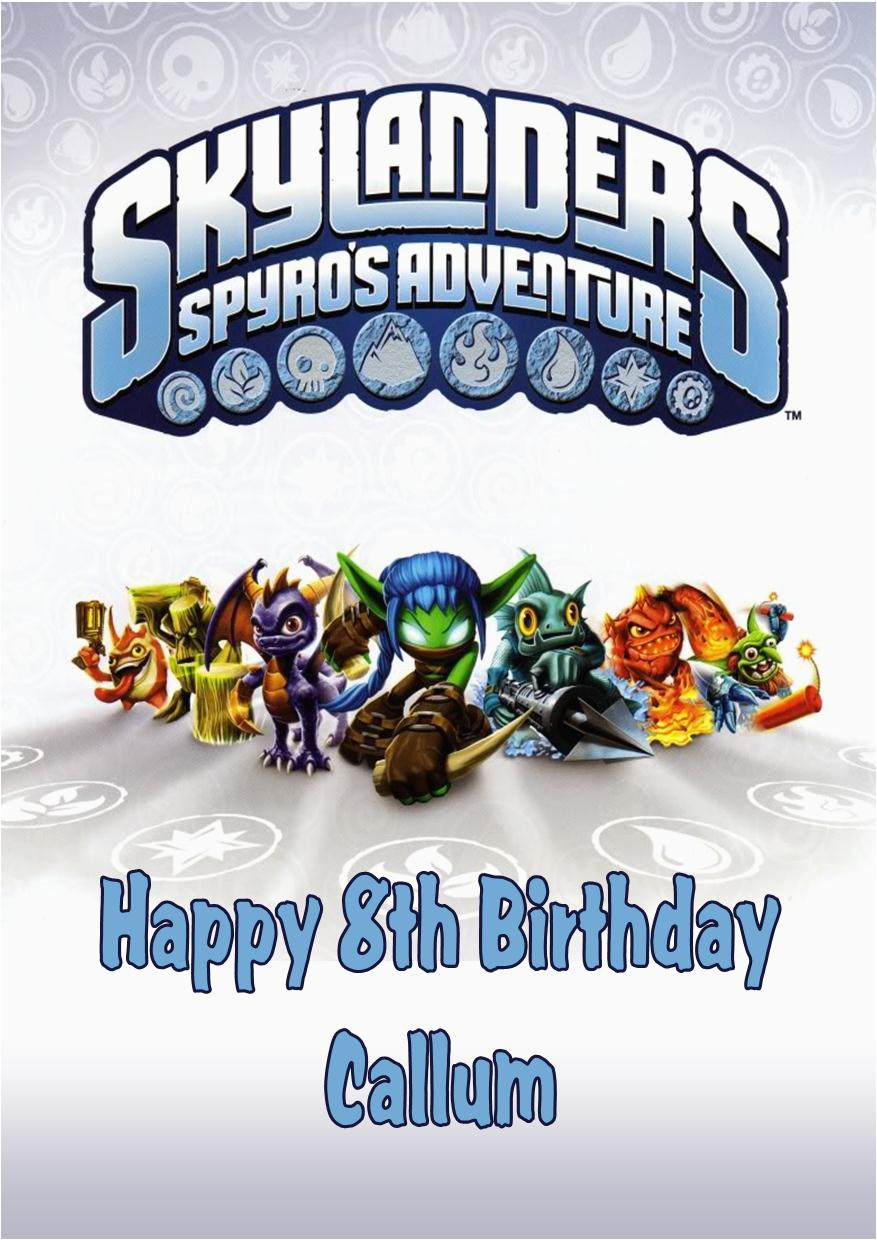 Skylander Birthday Invitations Free