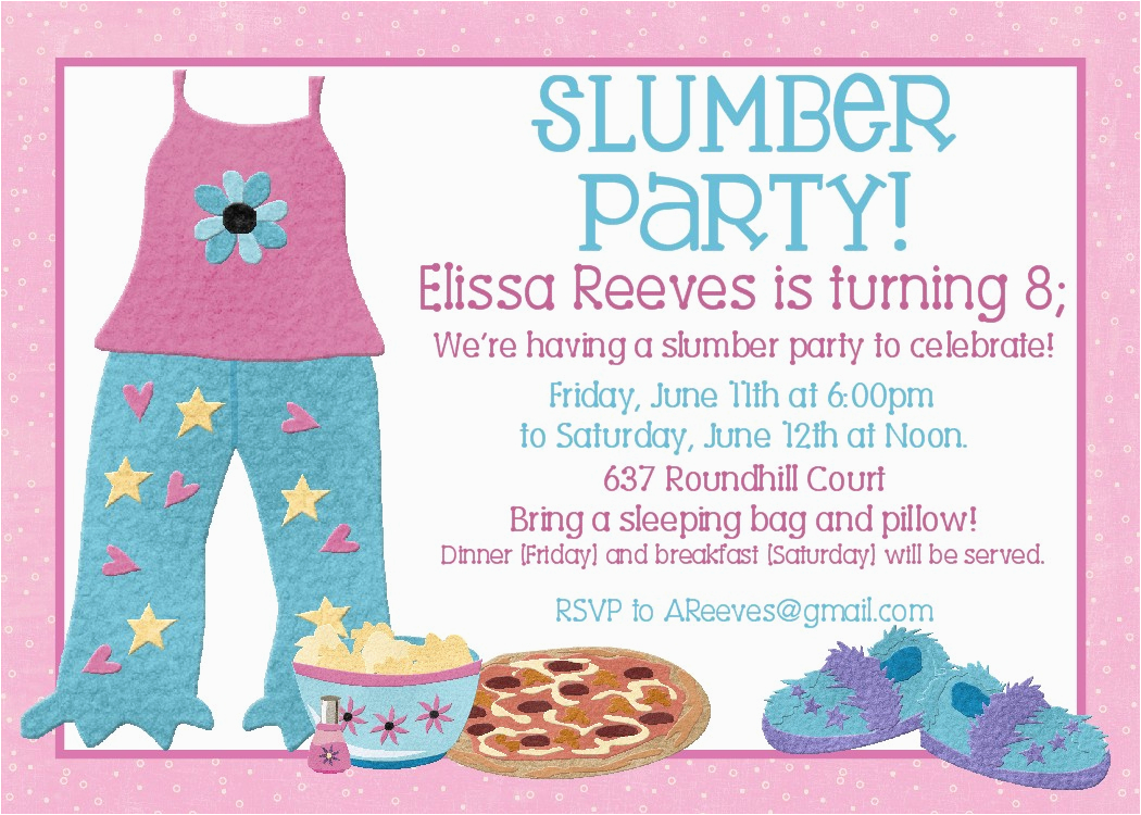 image regarding Printable Slumber Party Invitations identified as Totally free Printable Rest Get together Birthday Invites Free of charge