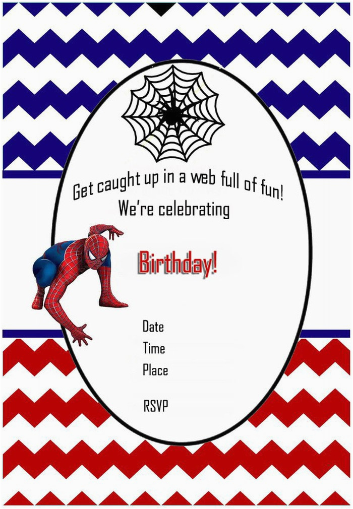 Free Printable Spiderman Birthday Party Invitations Invitation Templates