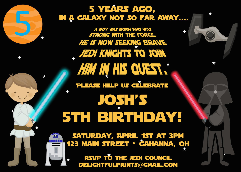 Free Printable Star Wars Birthday Invitations Party Drevio