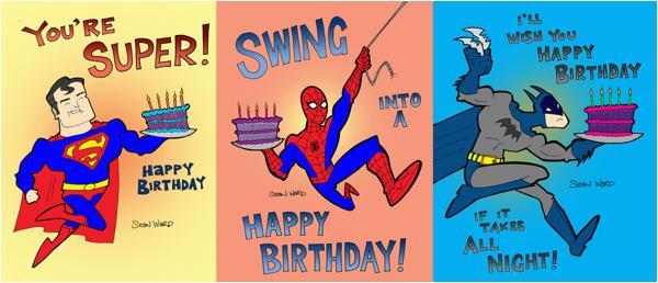 post superhero printable birthday cards 149811