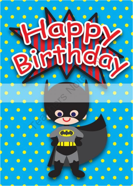 Free Printable Superhero Birthday Cards 6 Best Images Of Superhero Printable Birthday Cards Free