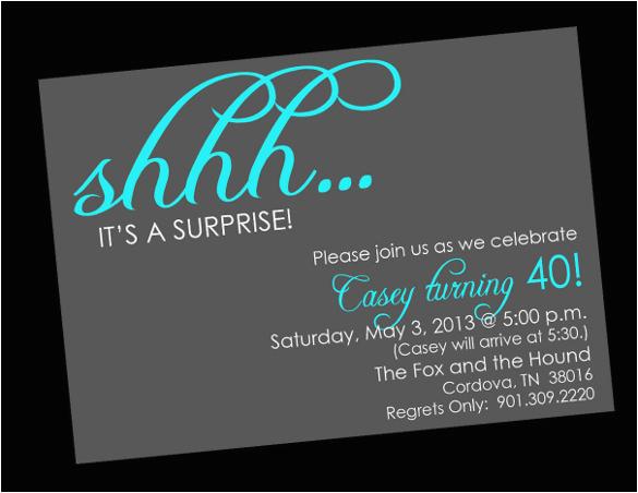 Free Printable Surprise Birthday Invitations Template 26 Surprise Birthday Invitation Templates Free Sample