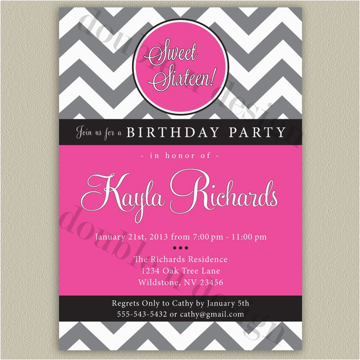 photograph regarding Sweet 16 Birthday Invitations Free Printable titled Free of charge Printable Cute 16 Birthday Celebration Invites 9 Suitable