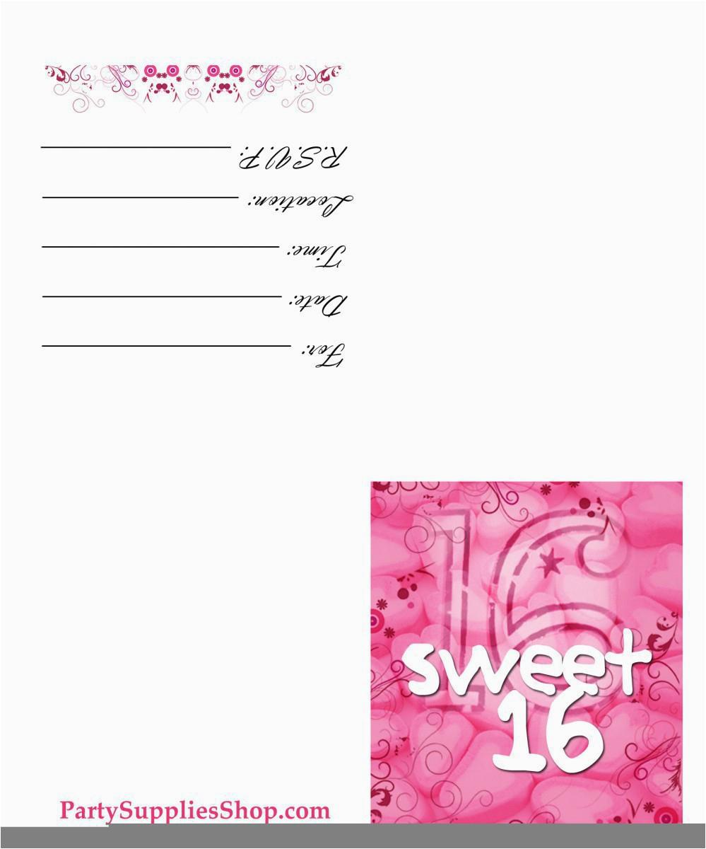 Free Printable Sweet 16 Birthday Party Invitations Sweet 16 Invitation Templates Free