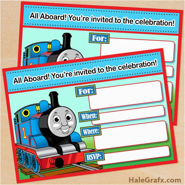 Free Printable Thomas the Train Birthday Invitations 9 Train Birthday Invitations for Kid Free Printable