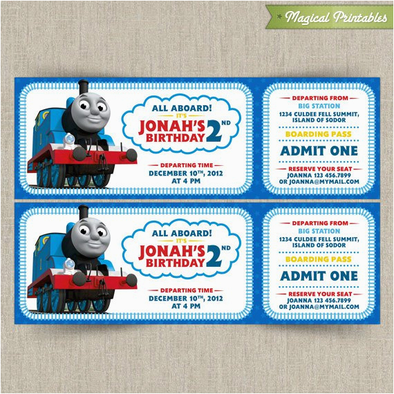 Free Printable Thomas the Train Birthday Invitations Thomas the Train Invitations