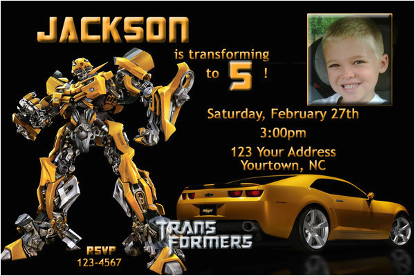Free Printable Transformer Birthday Invitations