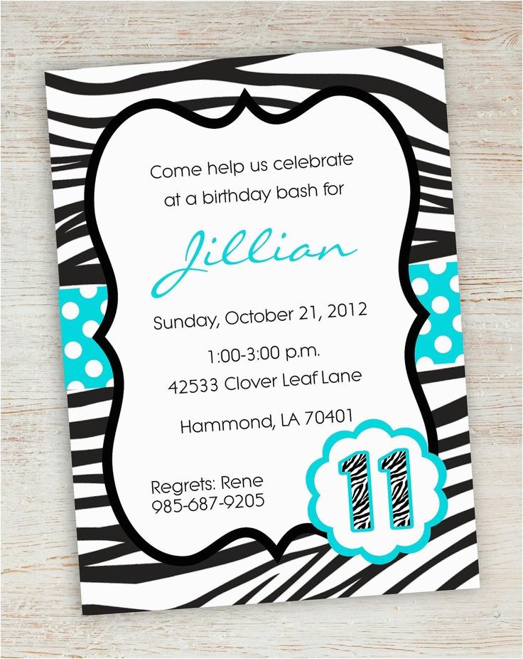 post free printable zebra birthday invitations 300647