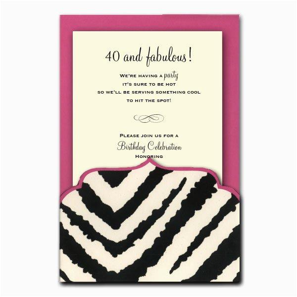 free printable zebra print birthday party invitations