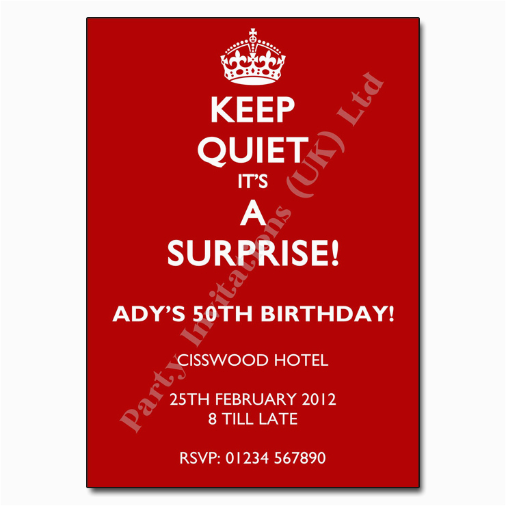 Free Surprise Birthday Party Invitations Free Printable Invitation