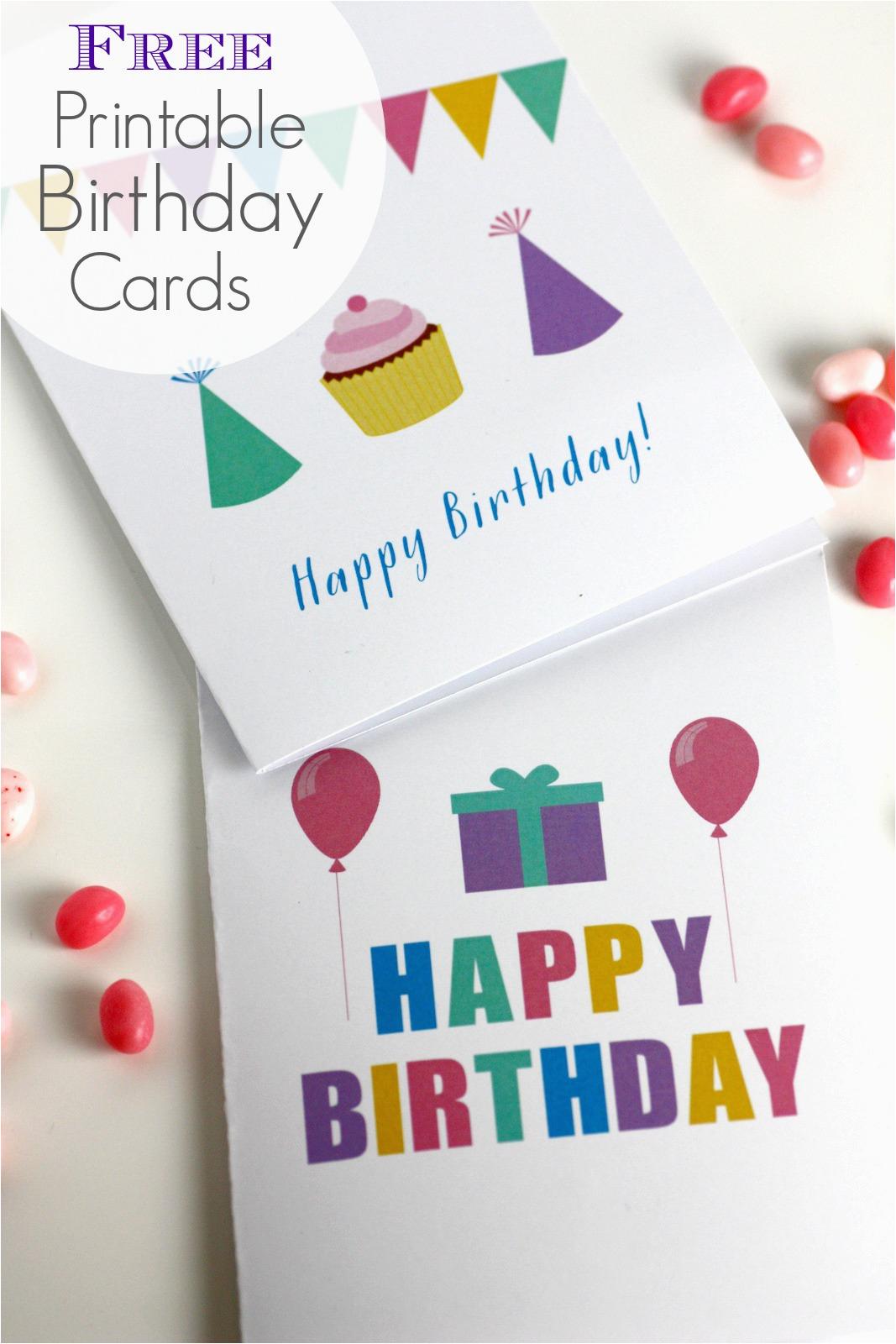Free To Print Birthday Cards Birthdaybuzz
