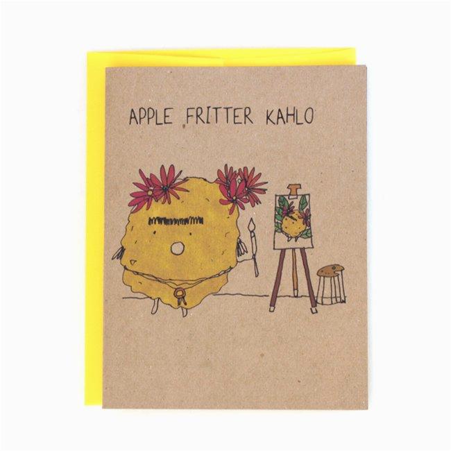 apple fritter frida kahlo greeting card