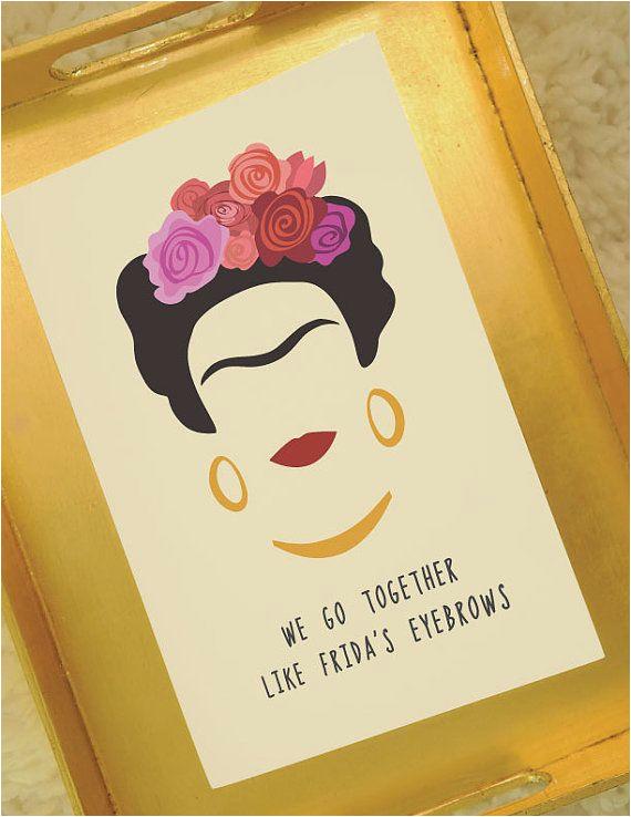 frida kahlo card frida 39 s eyebrows greeting card