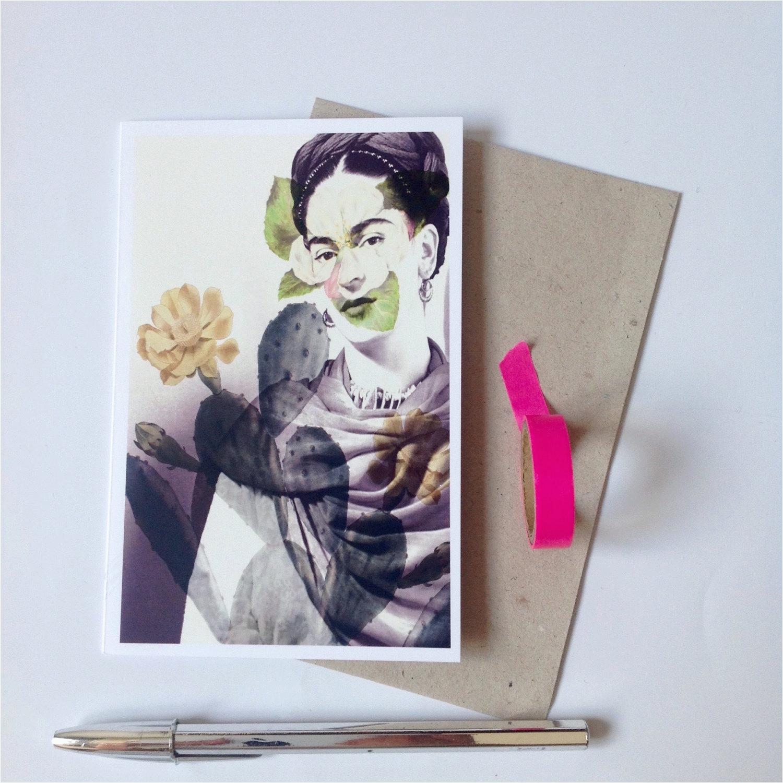 frida kahlo greeting card frida kahlo postcard blank card
