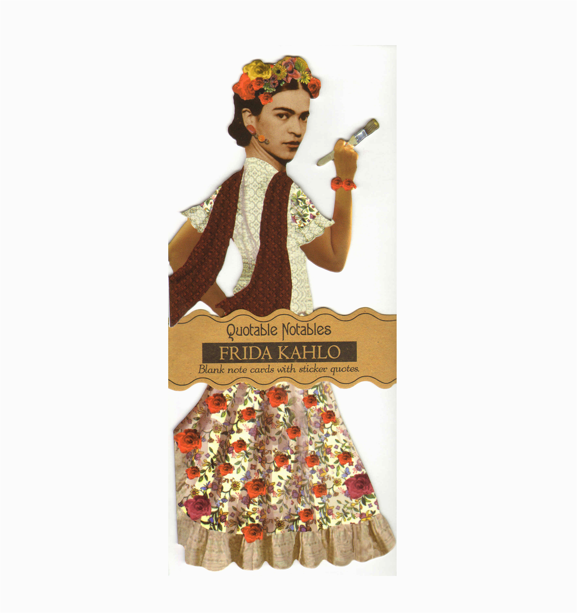 frida kahlo quotable notable greeting card with sticker