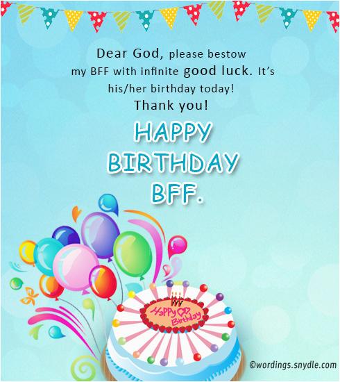 birthday wish best friend forever