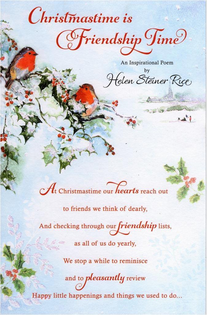kcukg535026 helen steiner rice christmas friendship greeting card lovely verse xmas cards