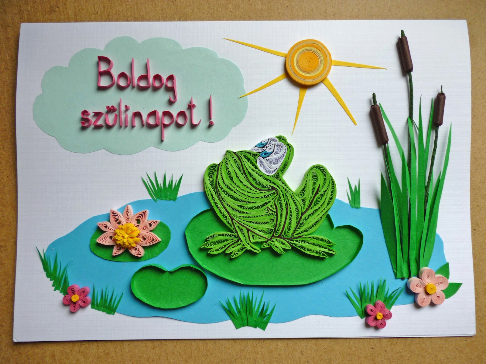 papirvilag bekas udvozlet birthday card with frog