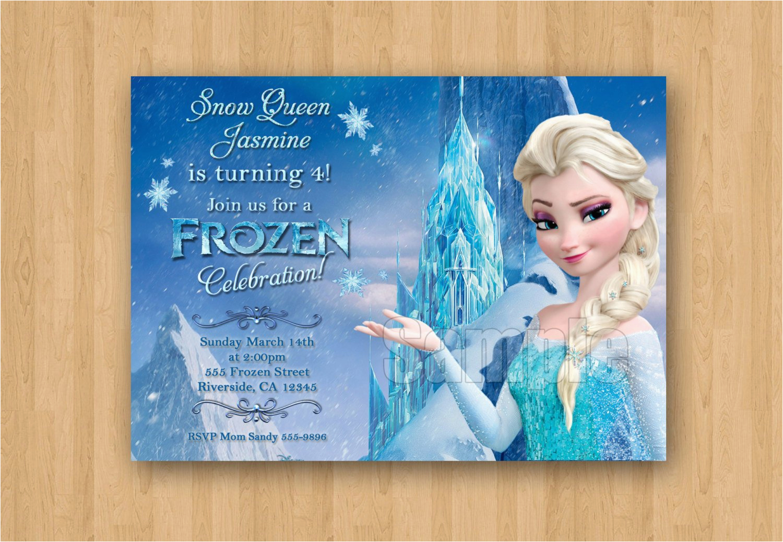 Frozen Birthday Invitations Walmart Anna Elsa Movie Party Personalized Invitation