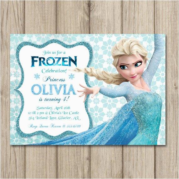 frozen birthday invitation elsa