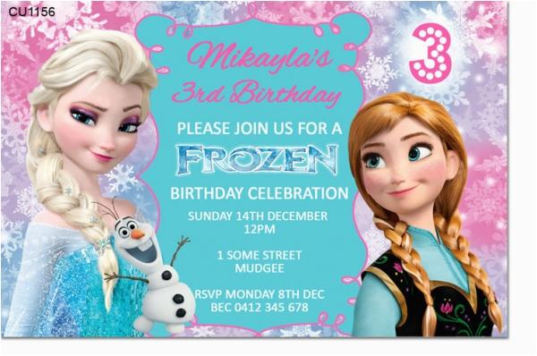 cu1156 frozen birthday invitation template