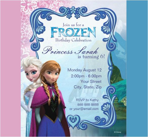 Frozen Themed Birthday Party Invitations Birthdaybuzz