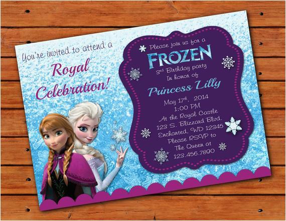 frozen themed invitation 5x7 printable