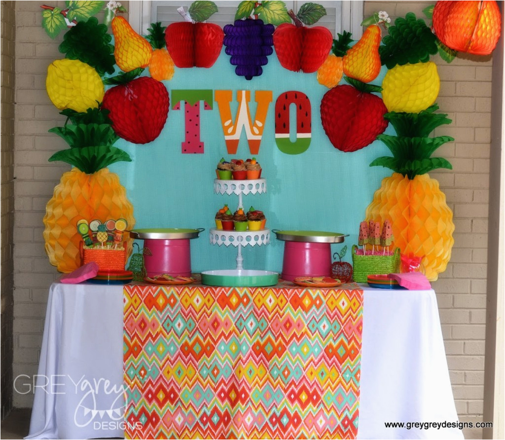 2 year old party ideas fruit theme party