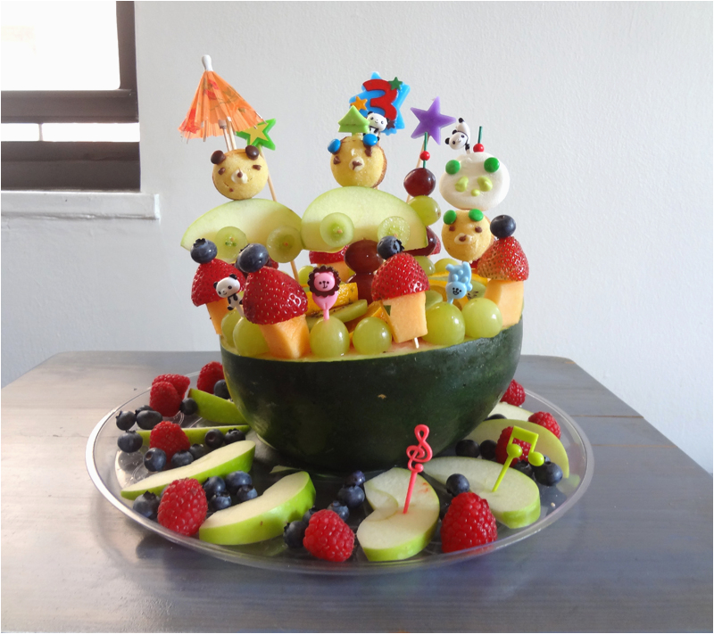 Fruit Decoration for Birthday Fruit Birthday Cake Working Mom 39 S Edible Art