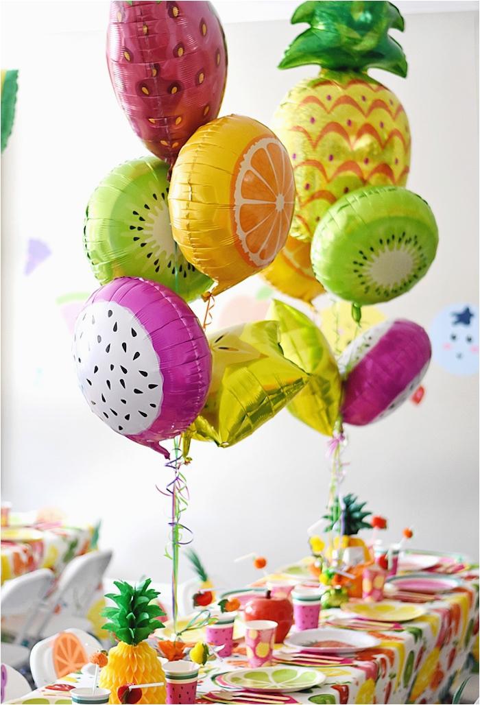 colorful tutti frutti birthday party