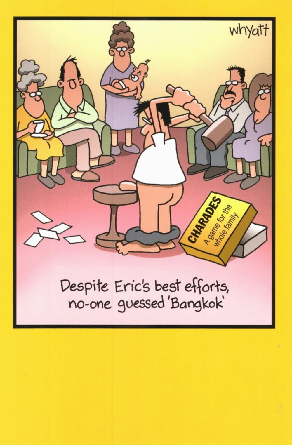Funniest Birthday Cards Of All Time Funny Eric Charades Bangkok Greeting Card