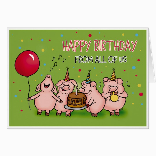 happy birthday from all of us funny birthday card