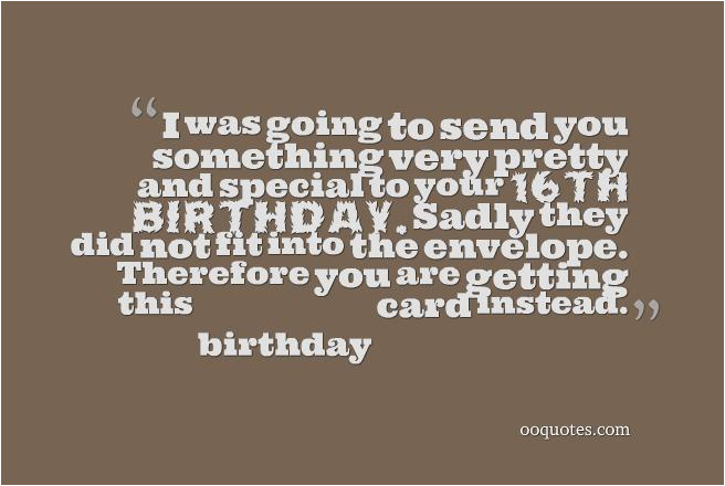 Funny 16th Birthday Cards Quotes Quotesgram