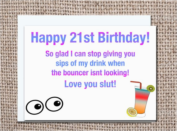 funny 21 year old birthday card 21st