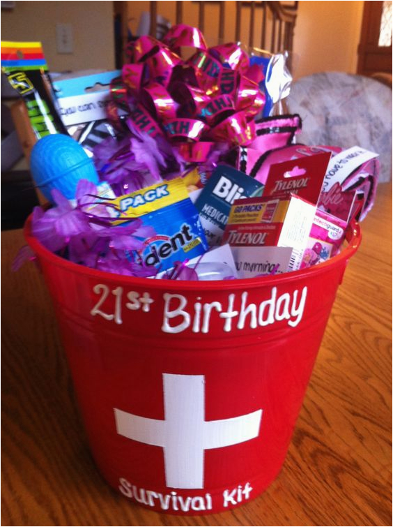 Funny 21st Birthday Gifts For Her Gift Basket My Daughter Made This