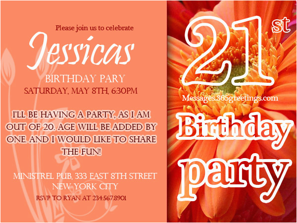 Funny 21st Birthday Invitation Wording Invitations