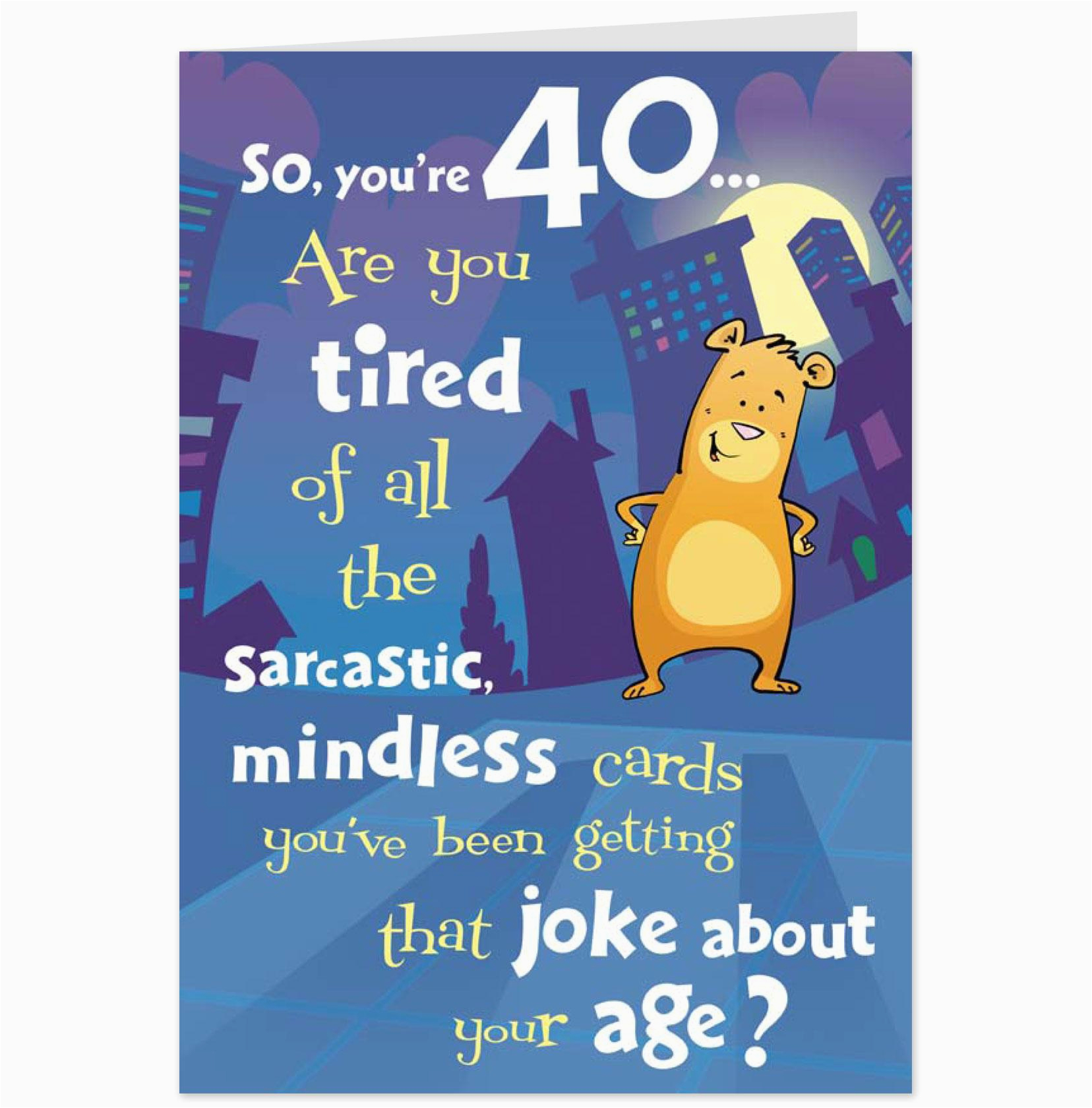 Funny 40th Birthday Cards For Women Quotes Quotesgram
