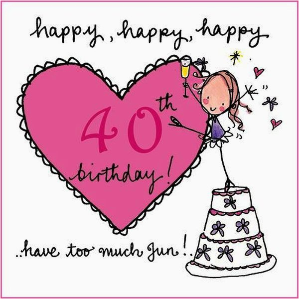 Funny 40th Birthday Cards For Women Happy Quotes Images And Memes