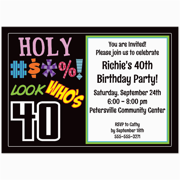 Funny Th Birthday Invitation I Fbe69b
