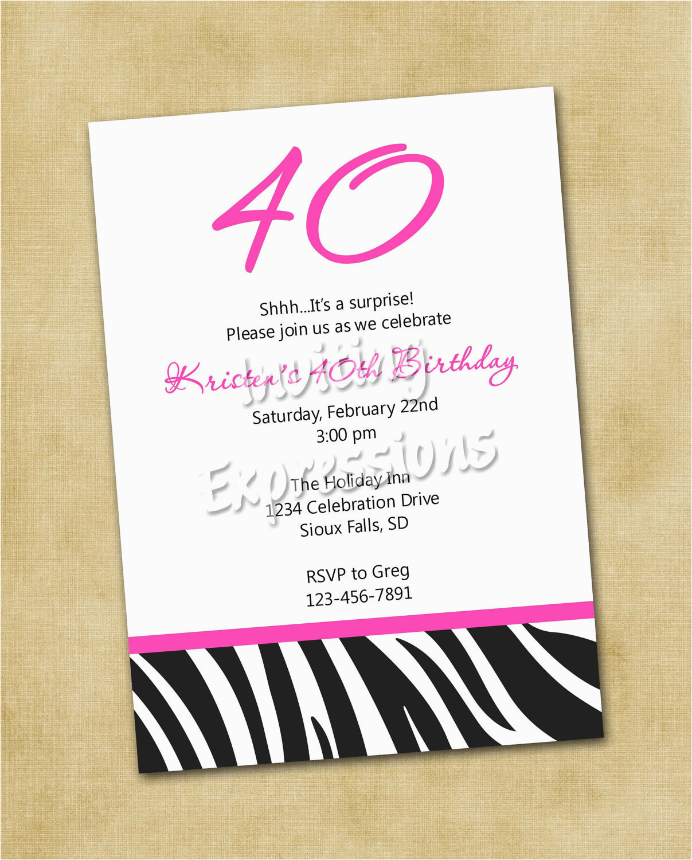 Funny 40th Birthday Invites Invitations For Quotes Quotesgram