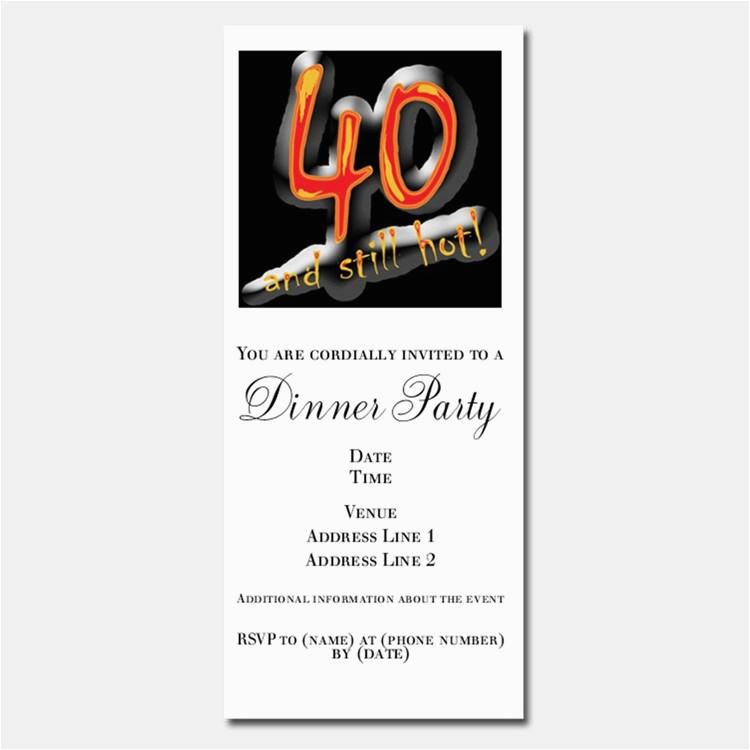 Funny 40th Birthday Invites Invitations For