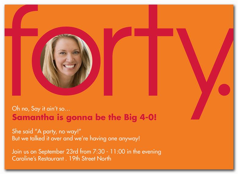 Funny 40th Birthday Party Invitations Fun Templates Ideas