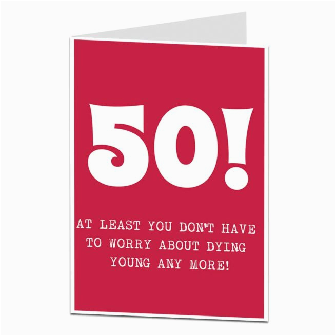 Funny 50th Birthday Cards For Dad Card Humour Getting Old Joke