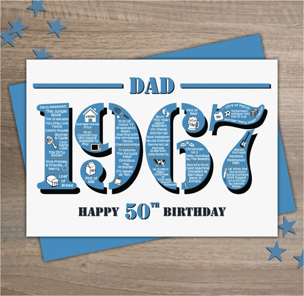 Funny 50th Birthday Cards For Dad Happy Card Design Ideas