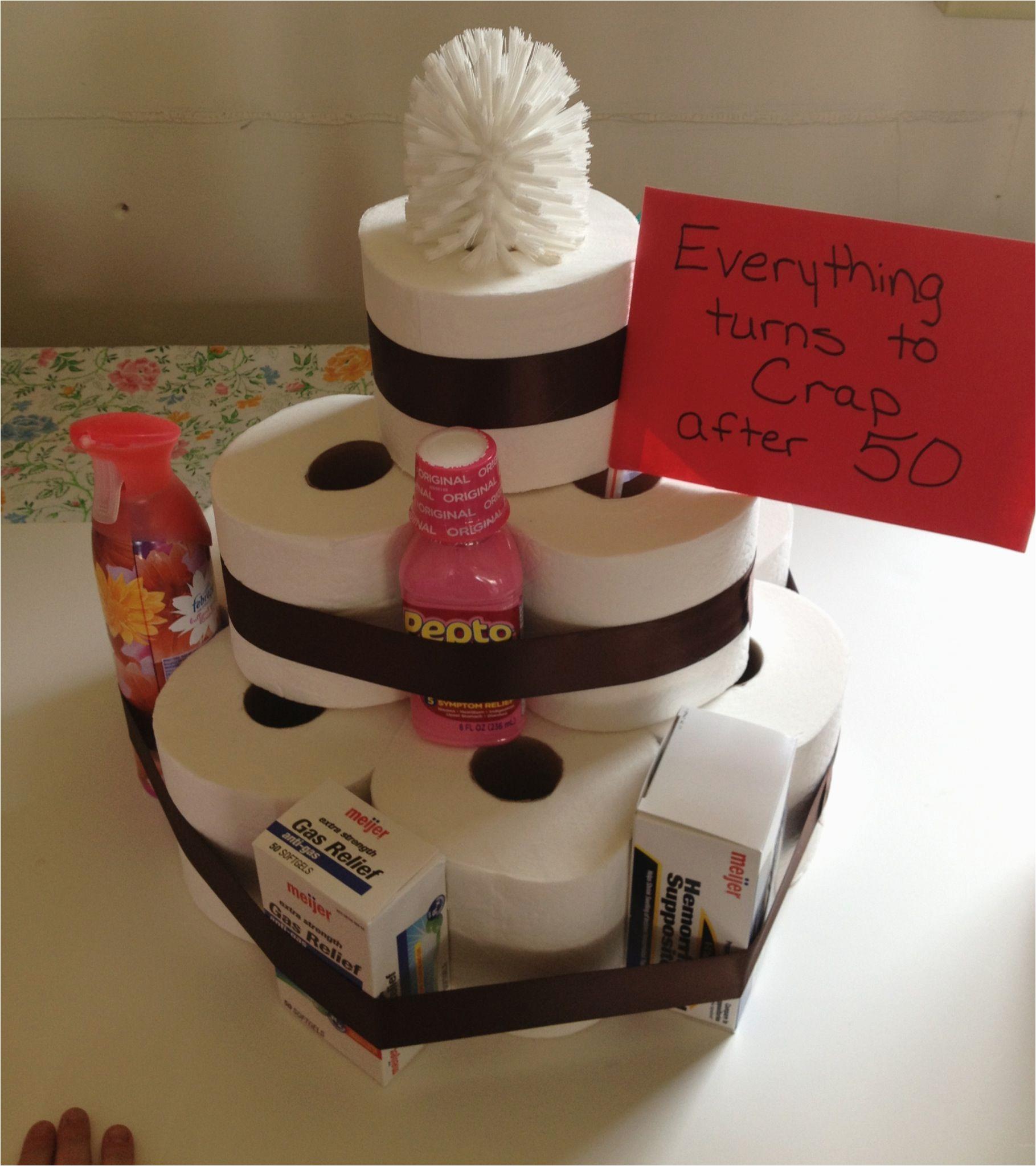toilet paper cake fun gag gift for anyone turning 50