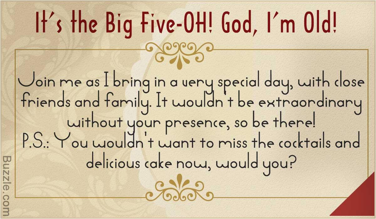 funny 50th birthday party invitation wording