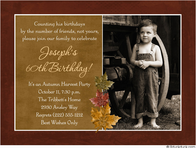 Funny 60th Birthday Party Invitations For Men Bagvania Free