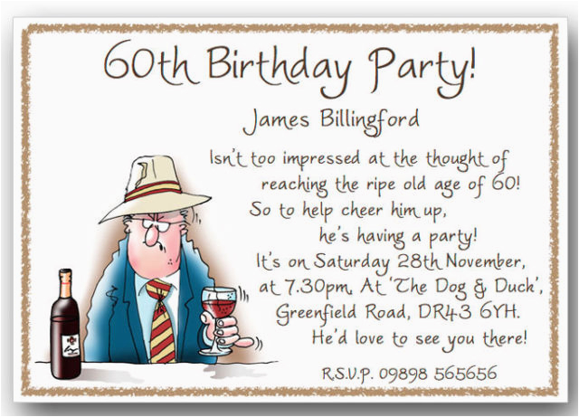 Funny 60th Birthday Party Invitations Humorous Quotes 80th Quotesgram